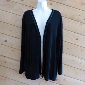 Chicos Travelers Long Sleeve Open Front Cardigan 3